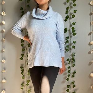Blue Cowl Neck Sweater with Sparkle